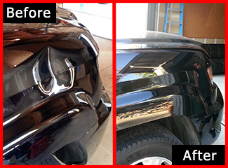Mobile Paintless Dent Removal - Before & After